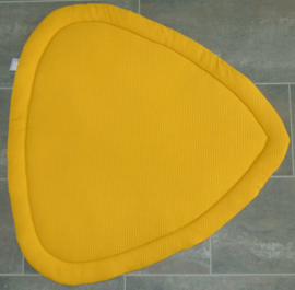 Boxkleed driehoek wafelkatoen/katoen kubus 100 cm