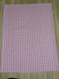 (V) Dekbedovertrek ruit 60 x 80 cm roze