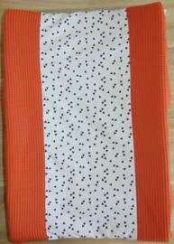 Aankleedkussenhoes wafelkatoen/poplin triangle