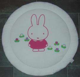 (V) Boxkleed rond Nijntje wit/roze 95 cm