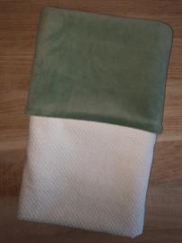 Dekentje babywafel/nicky velours 60  x 80 cm