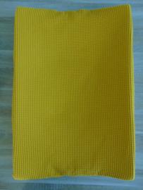 Aankleedkussenhoes wafelkatoen uni