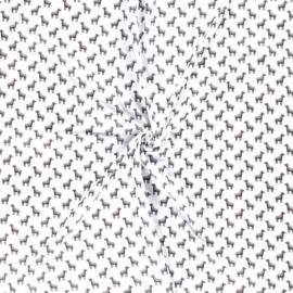 Aanbieding! Hoeslaken boxmatras rond hydrofielstof  zebra's wit/zwart