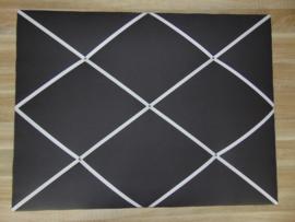 Memobord 60 x 80 cm uni met wit