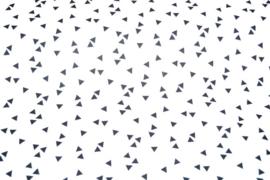 Poplin triangel wit/zwart