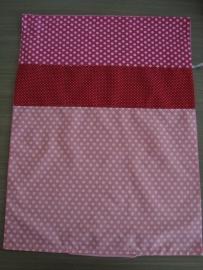 (V) Dekbedovertrek 60 x 80 cm roze/rood/fuchsia