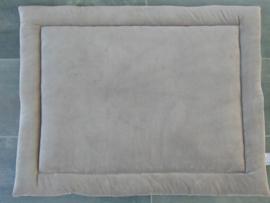 Boxkleed nicky velours uni/geborduurd kroontje en naam
