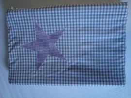 Aankleedkussenhoes ruit met ster