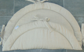 Boxkleed rond uni linnen naturel