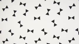 Katoen grote strikken wit/zwart