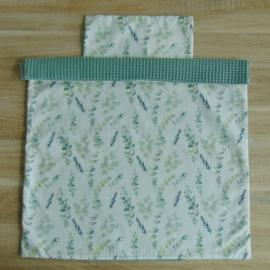 Dekbedovertrekset wafelkatoen/poplin eucalyptus