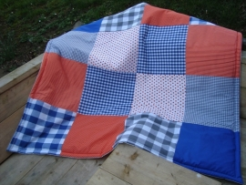 Speelkleed kobaltblauw/oranje/grijs