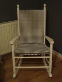 Kussenset schommelstoel ruit/uni