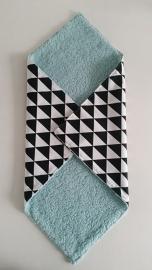 Vierkante doek zwart/wit/uni