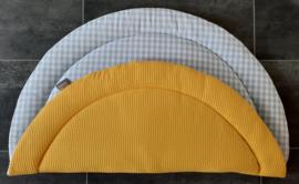 Boxkleed rond wafelkatoen/katoen ruit 1 cm