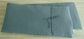 Kussenset picknickbank 180 x 39 cm hydrofielstof uni
