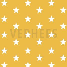 Katoen grote sterren oker (026)