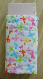 Poppenmatras en dekbed vlinders roze