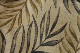 Geplastificeerd katoen ficus beige