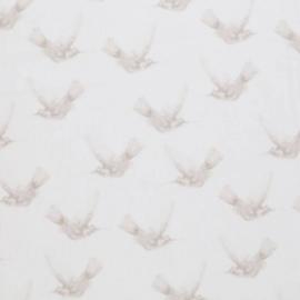 Katoen kolibri wit/beige