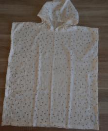 (V) Hydrofiele cape off-white/goud maat 116-128