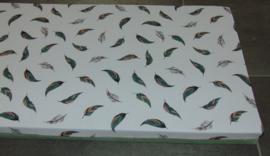 Kussen vensterbank veren pastel/wafelkatoen 41 x 96 x 6 cm