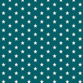 Katoen kleine sterren petrol (02)