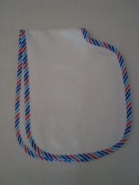 (V) Spuugdoek dubbel wit/blauw