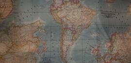 Stokke Tripp Trapp zitkussen afneembaar landkaart lichtblauw