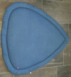 Boxkleed driehoek spijkerstof blauw 100 cm