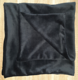 (V) Kussenhoes nicky velours zwart 50 x 50 cm