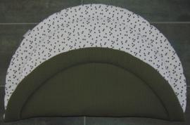 Boxkleed rond wafelkatoen/poplin triangel