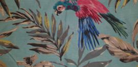 Stokke Tripp Trapp zitkussen afneembaar papegaai blauwtinten