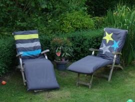 Bekleding steigerhouten tuinmeubelen sterren/strepen