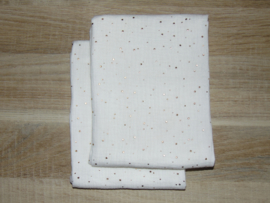 (V) Hydrofiele doek L off-white /goud