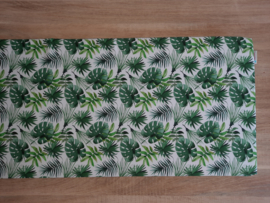 Kussen kallax katoen monstera bladeren wit/groen 39 x 147 x 4 cm