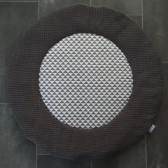 Boxkleed rond wafelkatoen/print