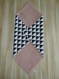 (V)Babywrap deken zwart/wit/oudroze