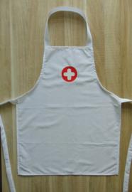 (V)Kinderschort verpleger/verpleegster wit/rood