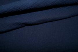 Hydrofielstof uni donkerblauw (008)