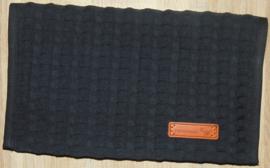 (V) Luiermapje grove wafelkatoen zwart/poplin confetti oker/grijs/zwart