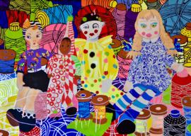 nieuw Schilderij full couloir puppets