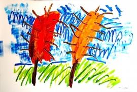 verkocht --bomen in lentetstorm