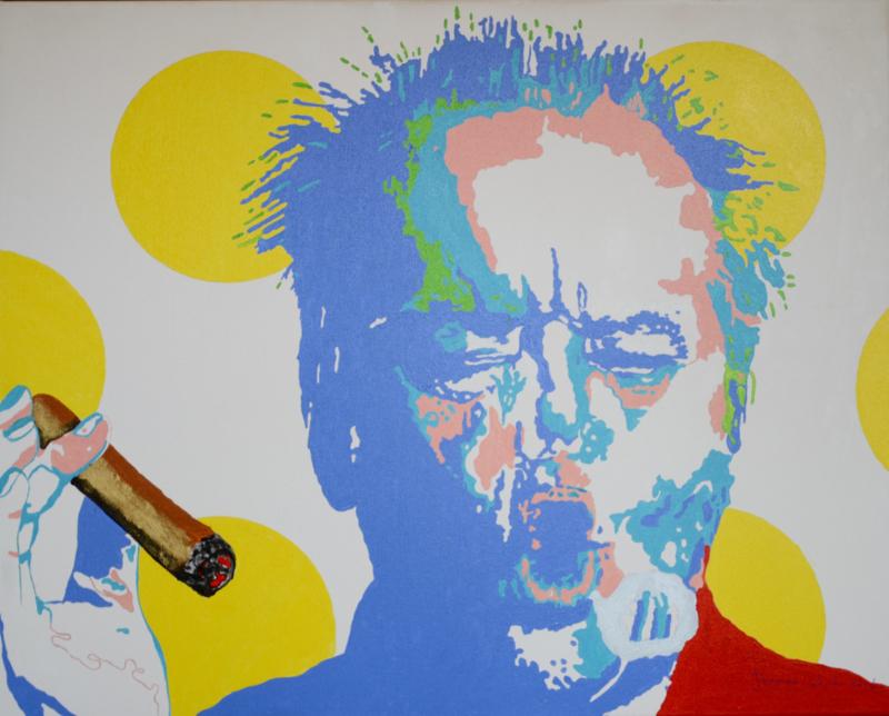 Nieuw Schilderij Smoking a Cigar Jack Nicholson