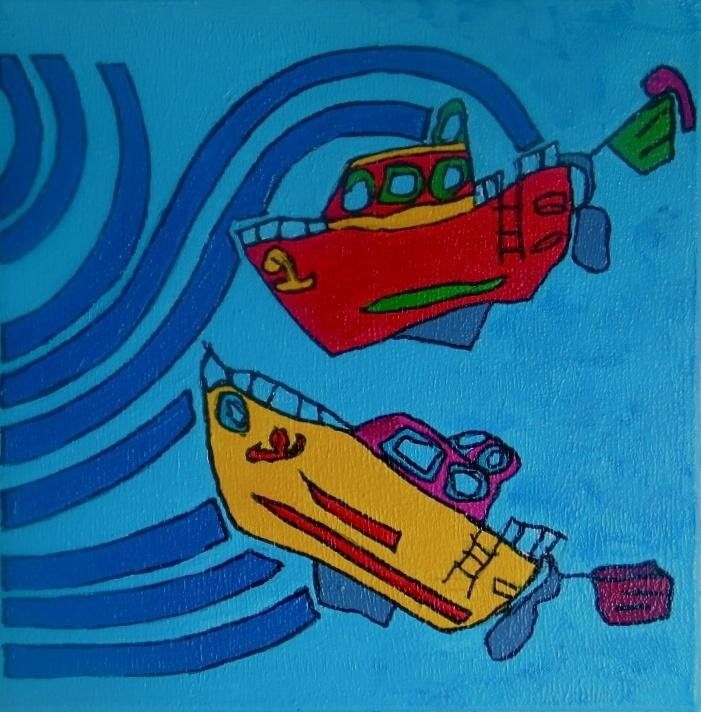 Nieuwe schilderijen doekjes van 30 x 30 cm
