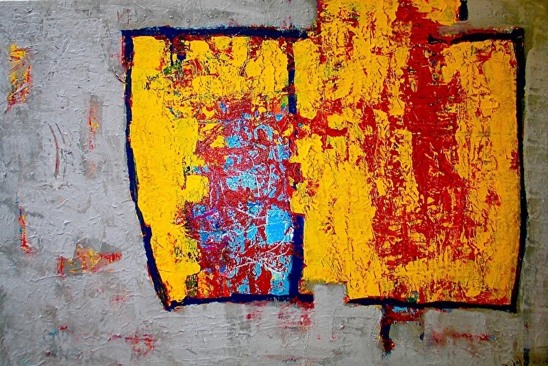 """Nieuw-abstract painting """" throug your eye's only"""""""