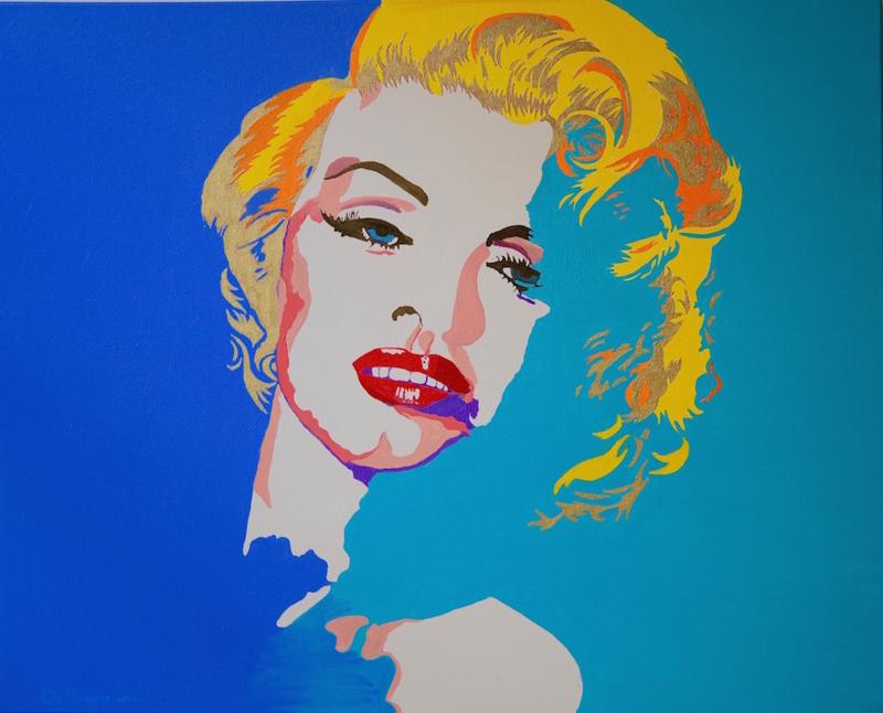 Nieuw - Marylin  Schilderij