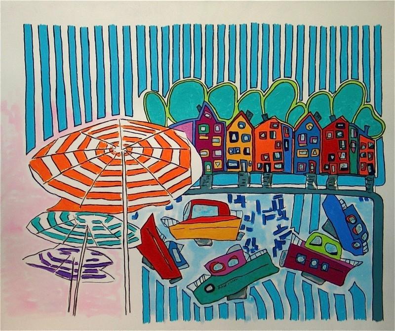 Nieuw, Schilderij, Dorp aan de Italiaanse kust