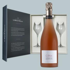 Le Brun de Neuville Côte Rosé Brut Champagne Giftbox met glazen