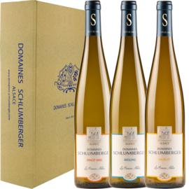 Schlumberger Asperge-box Muscat, Riesling & Pinot Gris Les Princes Abbés